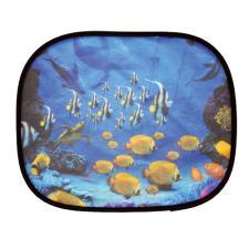 """Шторки солнцезащитные на боковые стекла, 2 шт, цветные, принт: """"Рыбка"""", размер: 44 х 36 см"""