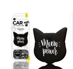 "Ароматизатор воздуха ""Aroma Car"", polymers  Quotes Cat, Black"