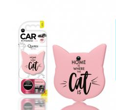 "Ароматизатор воздуха ""Aroma Car"", polymers Quotes Cat, Bubble Gum"