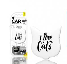 "Ароматизатор воздуха ""Aroma Car"", polymers  Quotes Cat, Fresh Linen"