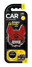 """Ароматизатор воздуха """"Aroma Car"""", polymers Angry Dogs, Black"""
